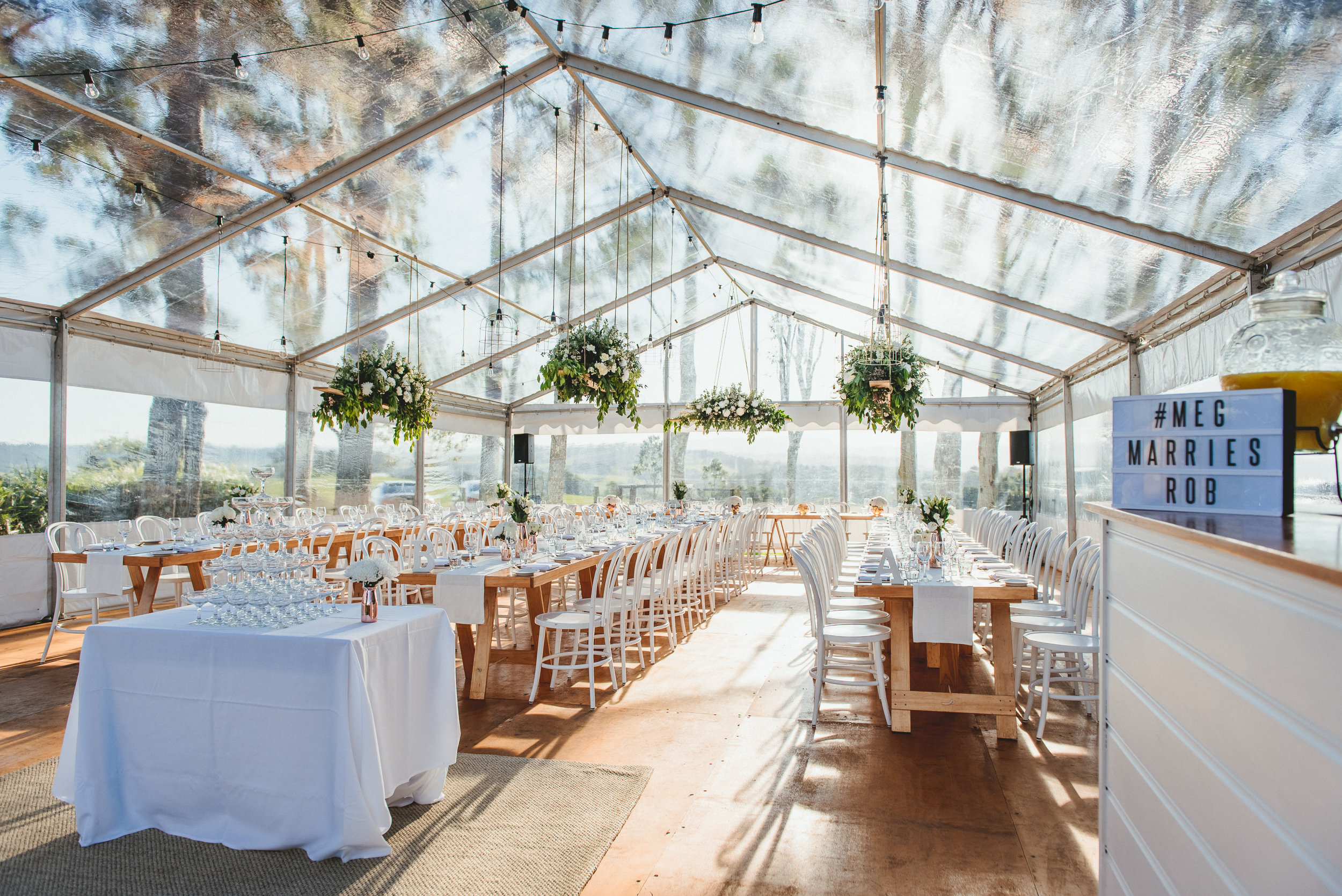 A Guide To The Wedding Sheds Table Styles Byron Bay Weddings